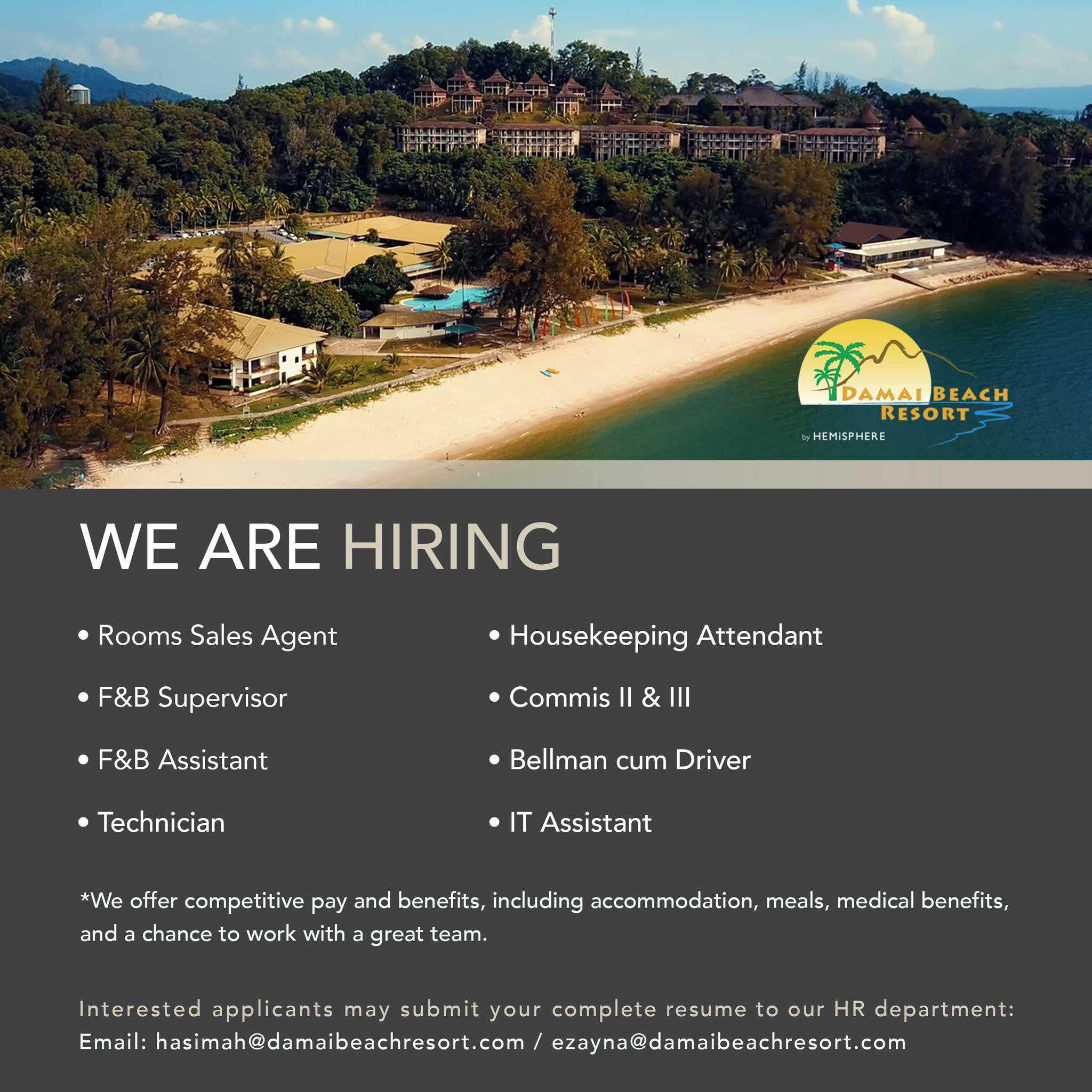 Damai Beach Resort Careers
